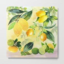 In the Lemon Orchard Metal Print