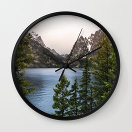Grand Teton Wanderlust Lake Adventure - Nature Photography Wall Clock