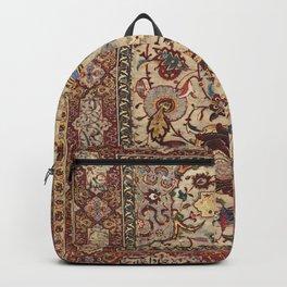 Safavid Silk Metal-Thread Persian Rug Print Backpack