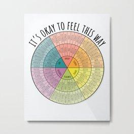 Feelings Wheel - Bright Metal Print