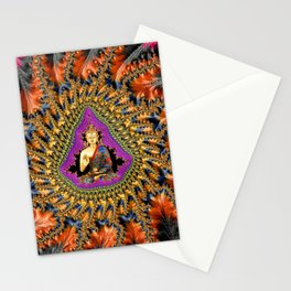 Buddha Mandelbrot Set Stationery Cards