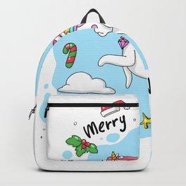 Merry Unicorn Christmas Backpack