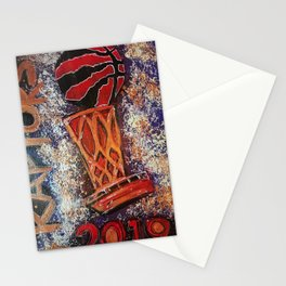 raptors 3,champion,basketball,gold,poster,wall art,2019,winners,NBA,finals,toronto,canada,painting Stationery Cards