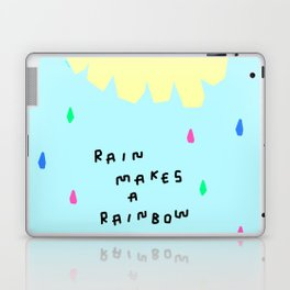 Rain Makes A Rainbow - pastel colorful illustration nursery kids room art Laptop & iPad Skin