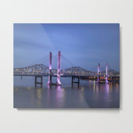 Lincoln Bridge Louisville, KY Metal Print