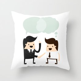 Closing In On A Deal Throw Pillow