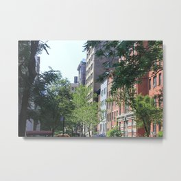 West Village Street Metal Print
