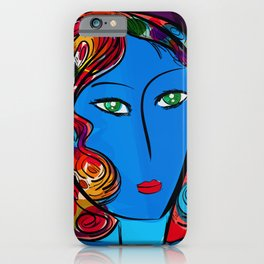 Blue Pop Girl of the morning iPhone Case