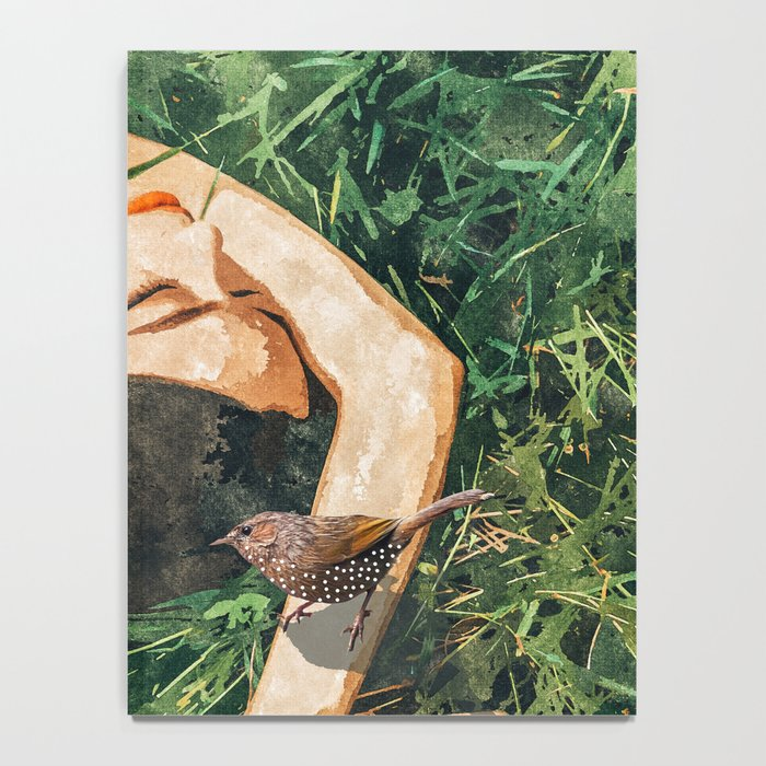Jungle Vacay #painting #portrait Notebook