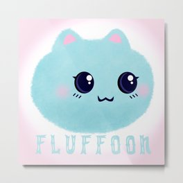 Introducing Fluffoon The Cutest Fluff In The World Metal Print