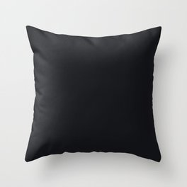 Jet Black Solid Color Parable to Jolie Paints Noir Throw Pillow