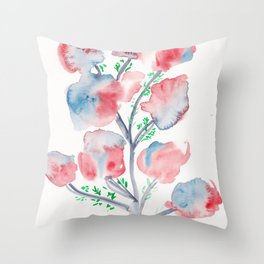 21  | Loose Watercolor Flower | 191015 Throw Pillow