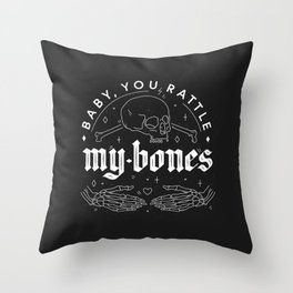 Baby, You Rattle My Bones - Halloween love confession Throw Pillow