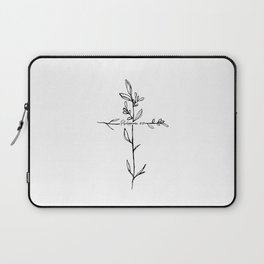 Philippians 4:13 Cross Laptop Sleeve