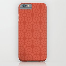 Coral Tomato Red Tribal Boho Patten iPhone Case