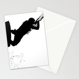 Up Up And Away Kiteboarder Silhouette Stationery Cards