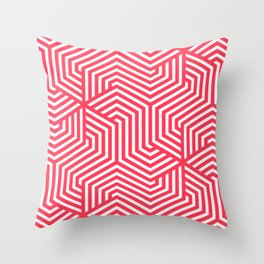 Sizzling Red - fuchsia - Minimal Vector Seamless Pattern Throw Pillow