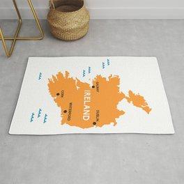 Ireland Map Rug