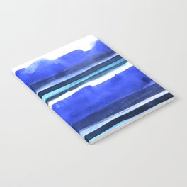 Wave Stripes Abstract Seascape Notebook
