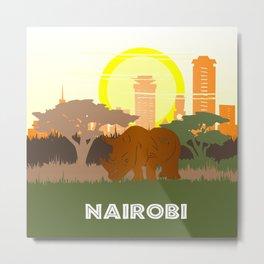 Nairobi National Park Kenya Metal Print