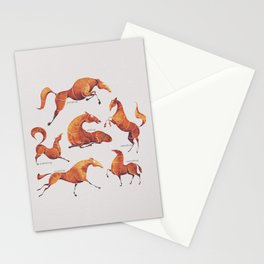 Horse poses Stationery Cards