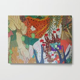 Llama and butterfly Metal Print