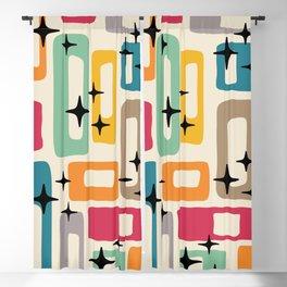 Retro Mid Century Modern Abstract Pattern 242 Blackout Curtain