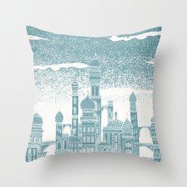Neptune Celestial City Throw Pillow