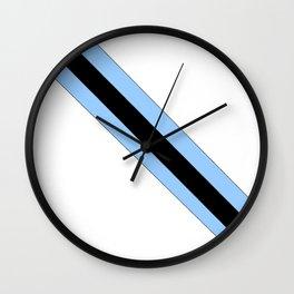 flag of bostwana 2 – Batswana,Motswana,botsuano,botsuanés,Gaborone. Wall Clock