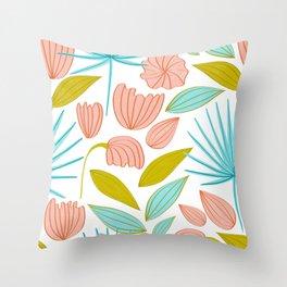 Divine Floral #illustration #pattern Throw Pillow