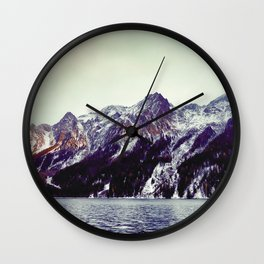 Lake and Mountains  - Nature Photography Wall Clock