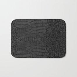 Black Crocodile Leather Print Badematte