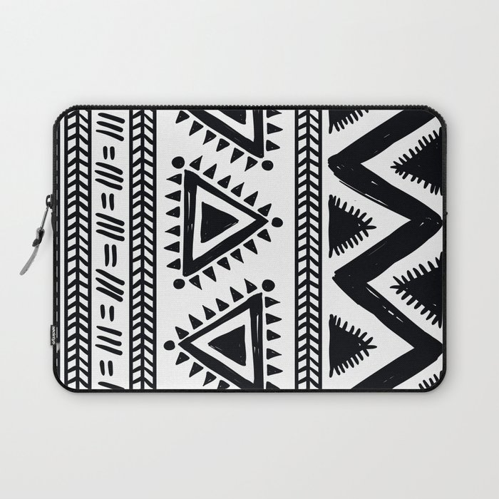 Tribal black and white Laptop Sleeve
