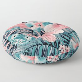 Vintage Jade Coral Aloha Floor Pillow