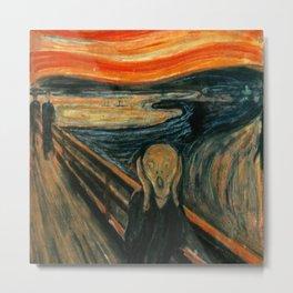The Scream - Edvard Munch Metal Print