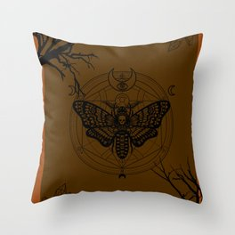 Witch Craft Orange Throw Pillow
