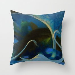 Swans (Night) Central Park, Gapstow Bridge New York by Joseph Stella Throw Pillow