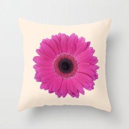 Deep pink Daisy Throw Pillow