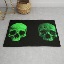 Skull quartet green Rug