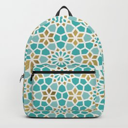 Persian Mosaic – Mint & White Backpack