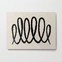 Line art abstract black 2 Metal Print
