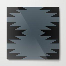 Geometric Southwestern Minimalism - Blue Metal Print