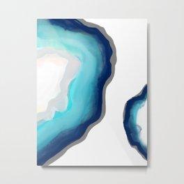 Aqua Agate Metal Print