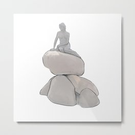 The Little Mermaid - Copenhagen Metal Print