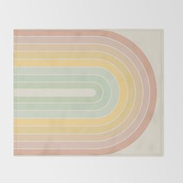 Gradient Arch - Rainbow IV Throw Blanket