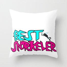 Snorkeling Snorkel Snorkeler Underwater Scuba Gift Throw Pillow