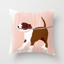 Eugenie the Bull Terrier Throw Pillow