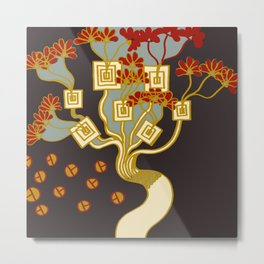 TREE OF PROSPERITY Metal Print