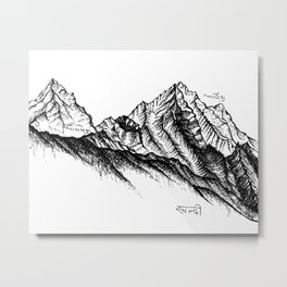 Himalayan Dreamscape Metal Print