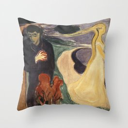 Separation by Edvard Munch Throw Pillow
